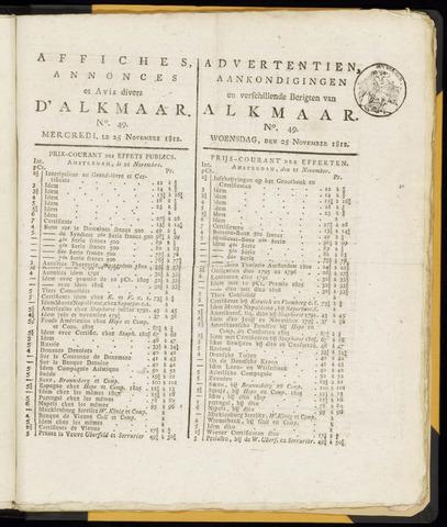 Alkmaarsche Courant 1812-11-25