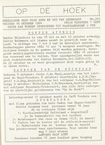 Op De Hoek, weekblad voor Akersloot 1964-10-16