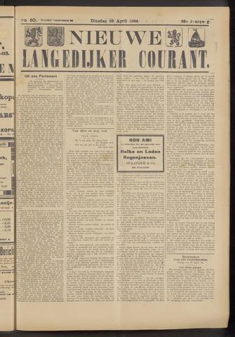 Nieuwe Langedijker Courant 1924-04-29