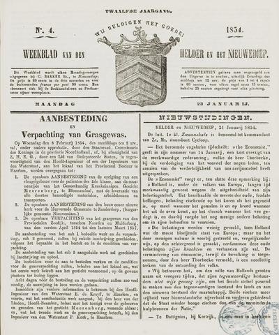 Weekblad van Den Helder en het Nieuwediep 1854-01-23