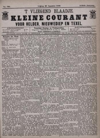 Vliegend blaadje : nieuws- en advertentiebode voor Den Helder 1880-08-20