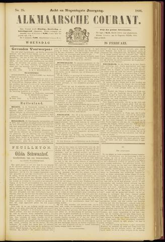 Alkmaarsche Courant 1896-02-26