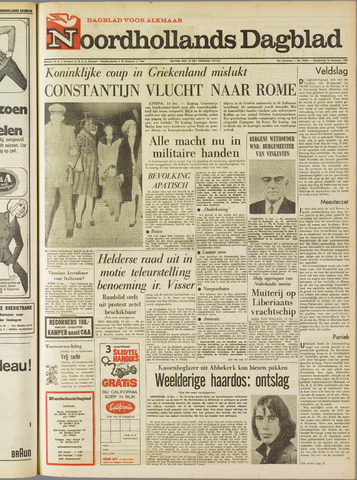Noordhollands Dagblad : dagblad voor Alkmaar en omgeving 1967-12-14