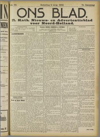 Ons Blad : katholiek nieuwsblad voor N-H 1913-08-02