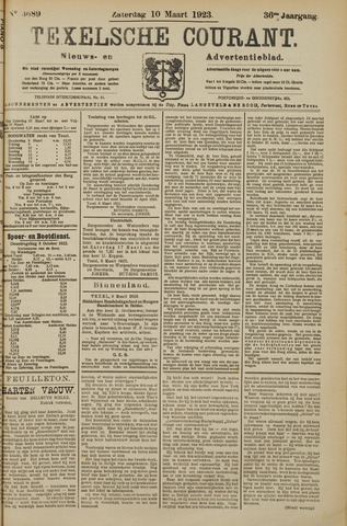 Texelsche Courant 1923-03-10