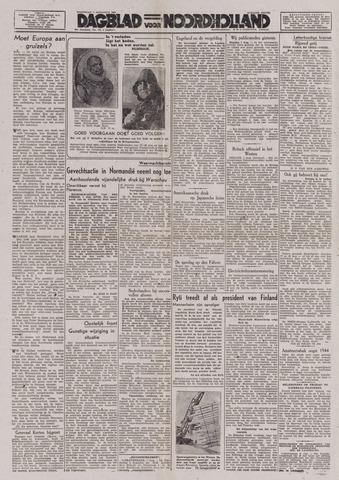 Dagblad Noord-Holland, Schager editie 1944-08-02