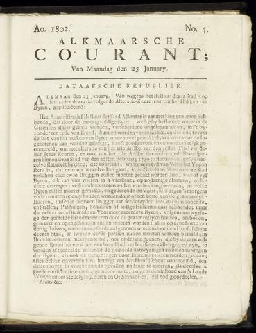 Alkmaarsche Courant 1802-01-25