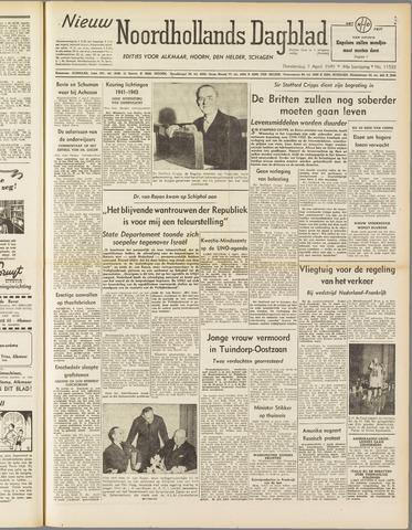 Nieuw Noordhollandsch Dagblad : voor Alkmaar en omgeving 1949-04-07