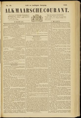 Alkmaarsche Courant 1886-03-05