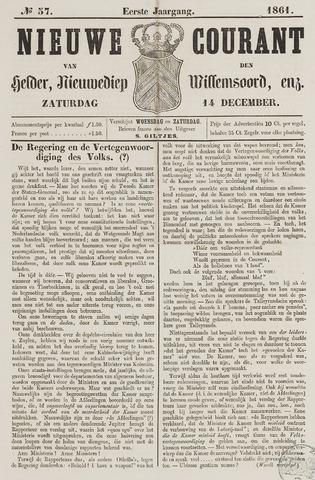 Nieuwe Courant van Den Helder 1861-12-14