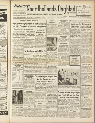 Nieuw Noordhollandsch Dagblad : voor Alkmaar en omgeving 1949-09-03
