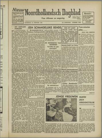 Nieuw Noordhollandsch Dagblad : voor Alkmaar en omgeving 1946-02-23