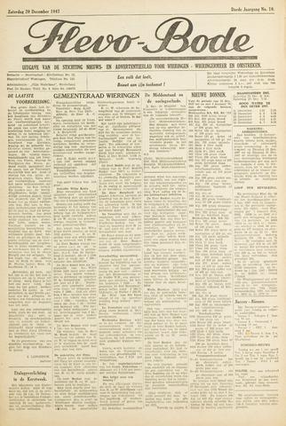Flevo-bode: nieuwsblad voor Wieringen-Wieringermeer 1947-12-20