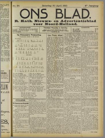 Ons Blad : katholiek nieuwsblad voor N-H 1910-04-30