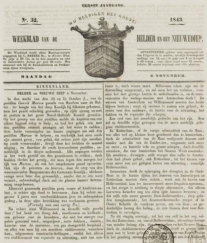 Weekblad van Den Helder en het Nieuwediep 1843-11-06