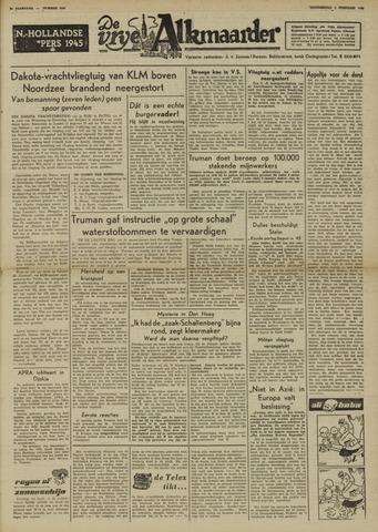 De Vrije Alkmaarder 1950-02-02