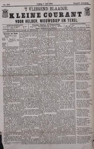 Vliegend blaadje : nieuws- en advertentiebode voor Den Helder 1881-07-01