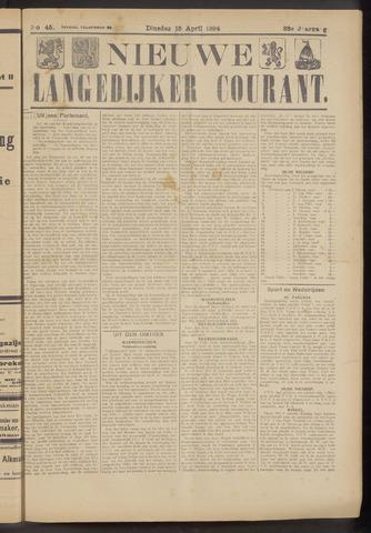 Nieuwe Langedijker Courant 1924-04-15