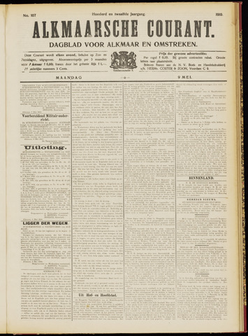 Alkmaarsche Courant 1910-05-09