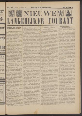 Nieuwe Langedijker Courant 1925-11-24