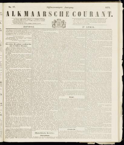 Alkmaarsche Courant 1873-04-27