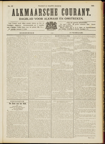 Alkmaarsche Courant 1910-02-17