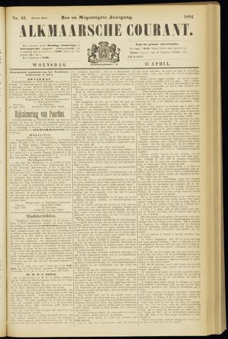 Alkmaarsche Courant 1894-04-11