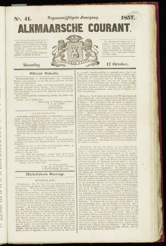 Alkmaarsche Courant 1857-10-12