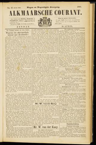 Alkmaarsche Courant 1897-04-18