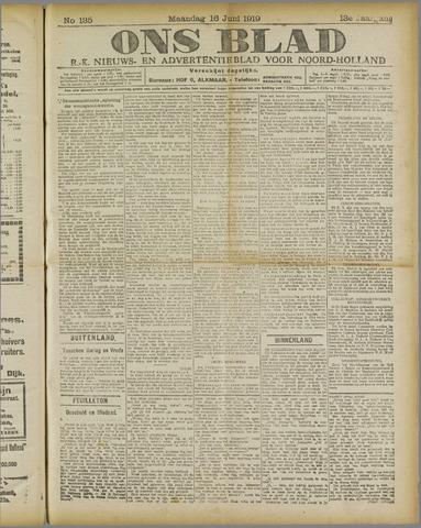Ons Blad : katholiek nieuwsblad voor N-H 1919-06-16