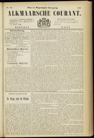 Alkmaarsche Courant 1892-07-13
