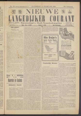 Nieuwe Langedijker Courant 1930-02-15