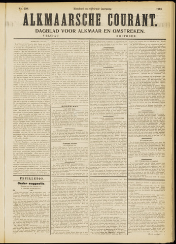 Alkmaarsche Courant 1913-10-03