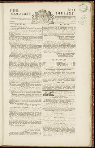 Alkmaarsche Courant 1851-03-17