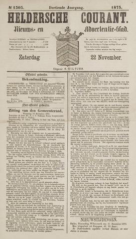 Heldersche Courant 1873-11-22