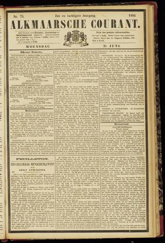Alkmaarsche Courant 1884-06-25