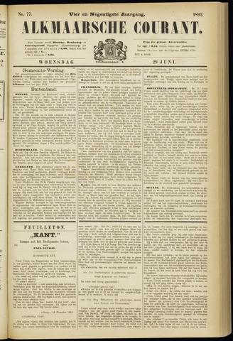Alkmaarsche Courant 1892-06-29