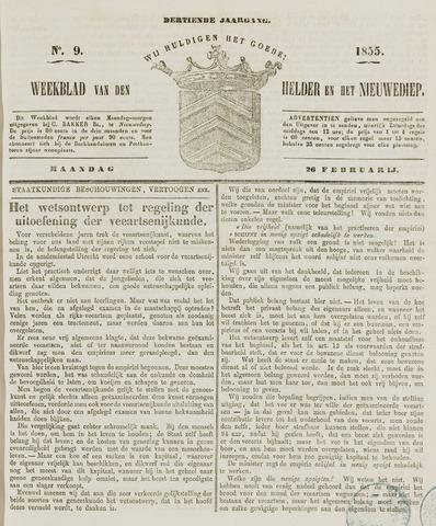 Weekblad van Den Helder en het Nieuwediep 1855-02-26