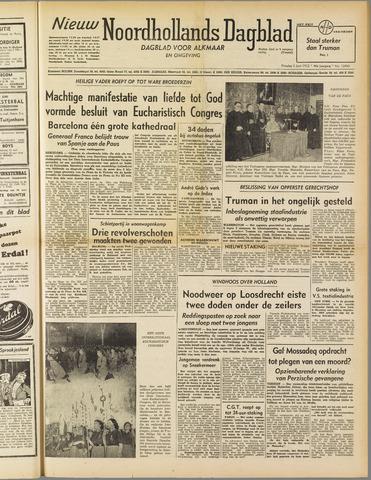 Nieuw Noordhollandsch Dagblad : voor Alkmaar en omgeving 1952-06-03