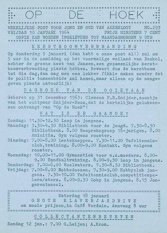 Op De Hoek, weekblad voor Akersloot 1964-01-10