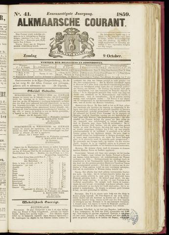 Alkmaarsche Courant 1859-10-09
