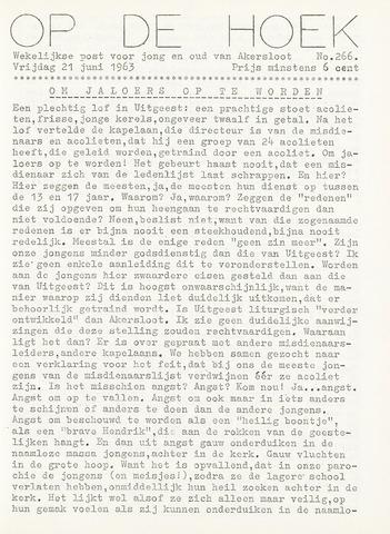 Op De Hoek, weekblad voor Akersloot 1963-06-21