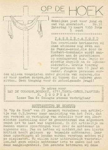 Op De Hoek, weekblad voor Akersloot 1955-03-19
