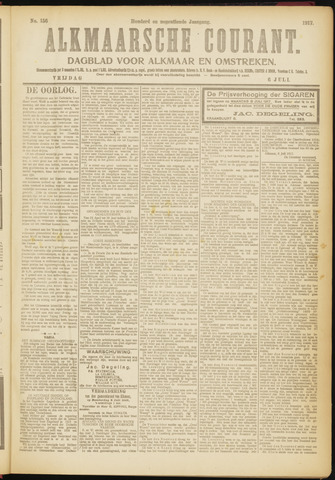 Alkmaarsche Courant 1917-07-06