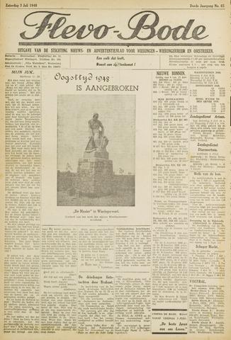 Flevo-bode: nieuwsblad voor Wieringen-Wieringermeer 1948-07-03