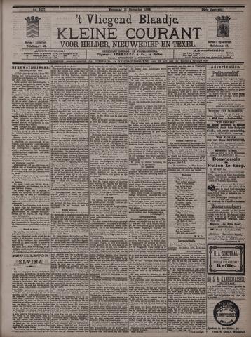 Vliegend blaadje : nieuws- en advertentiebode voor Den Helder 1896-11-11
