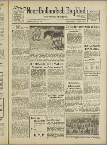 Nieuw Noordhollandsch Dagblad : voor Alkmaar en omgeving 1946-07-18