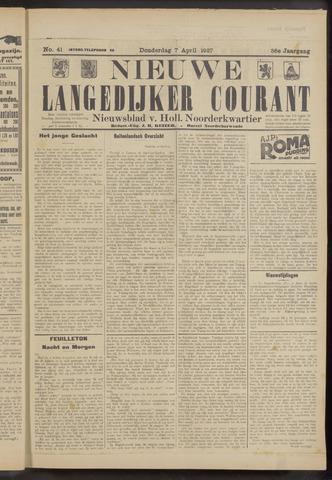 Nieuwe Langedijker Courant 1927-04-07