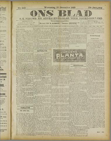 Ons Blad : katholiek nieuwsblad voor N-H 1919-12-10