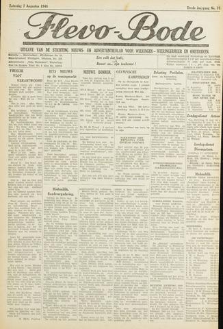 Flevo-bode: nieuwsblad voor Wieringen-Wieringermeer 1948-08-07